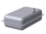 Прямоугольный плоский бак со скругленными углами